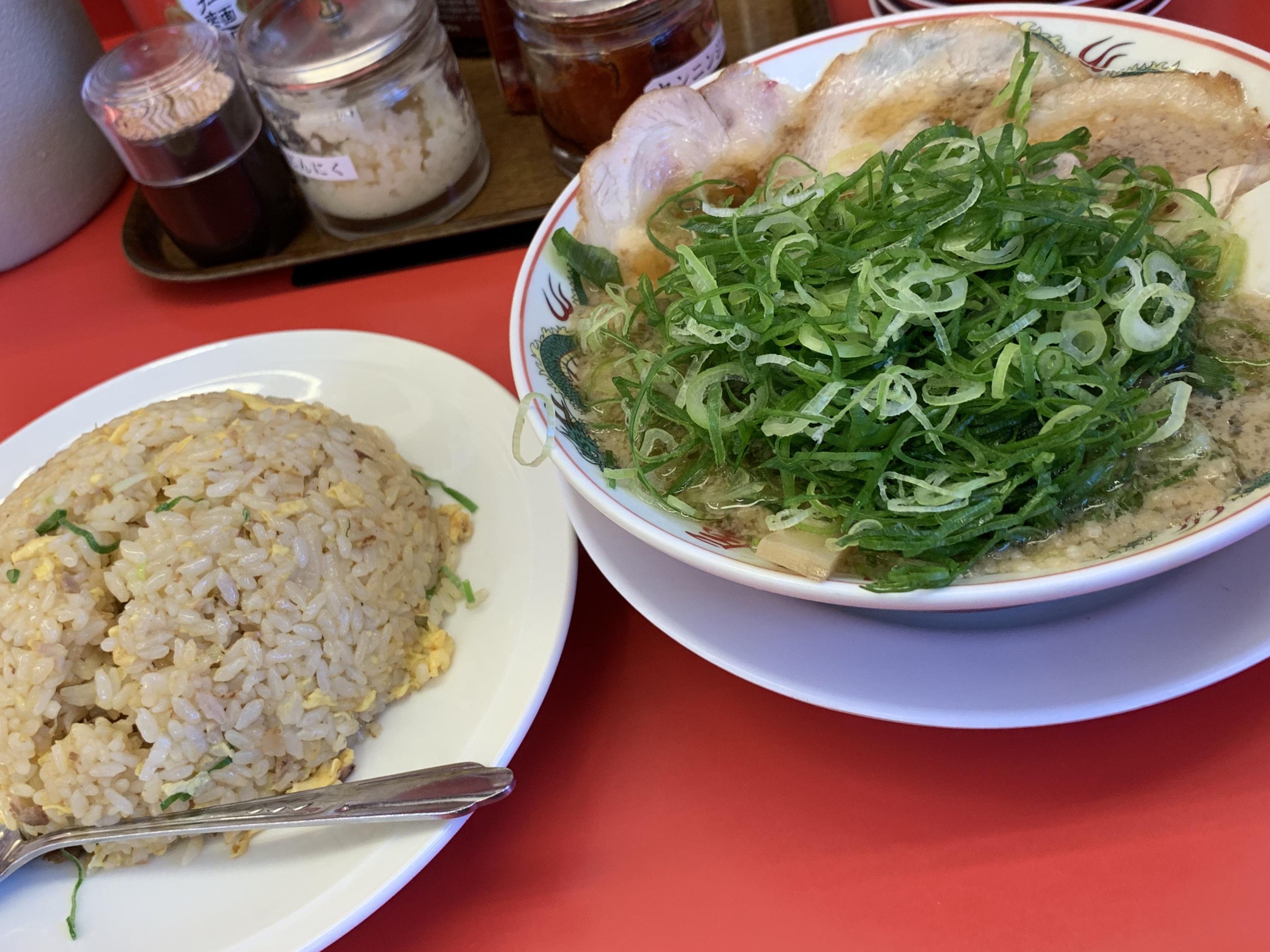 ネギラーメン&炒飯…