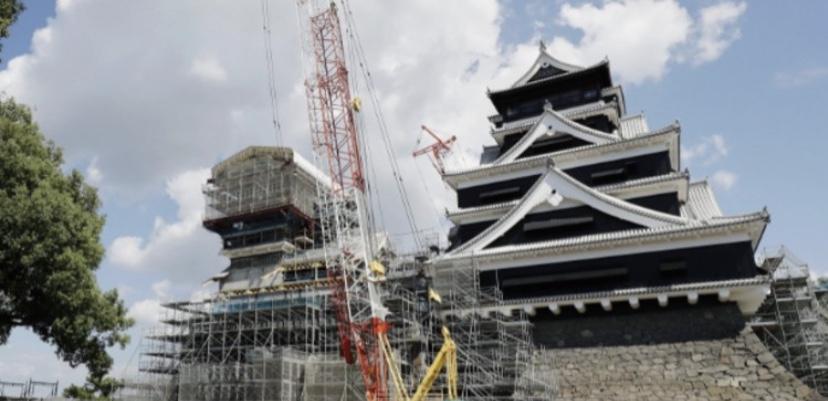 熊本城が修復、被災後3年半ぶりに一般開放