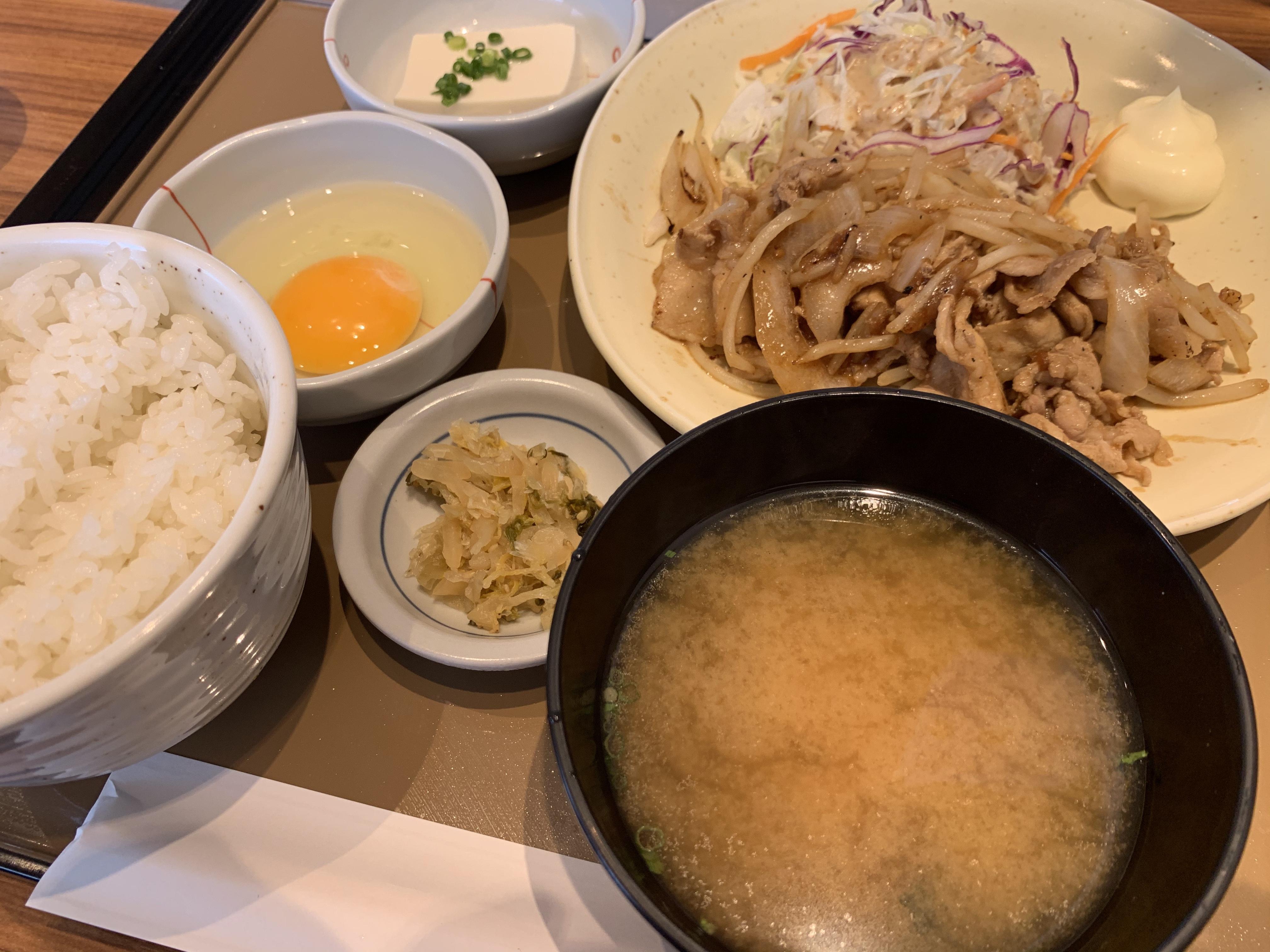 生姜焼き定食…