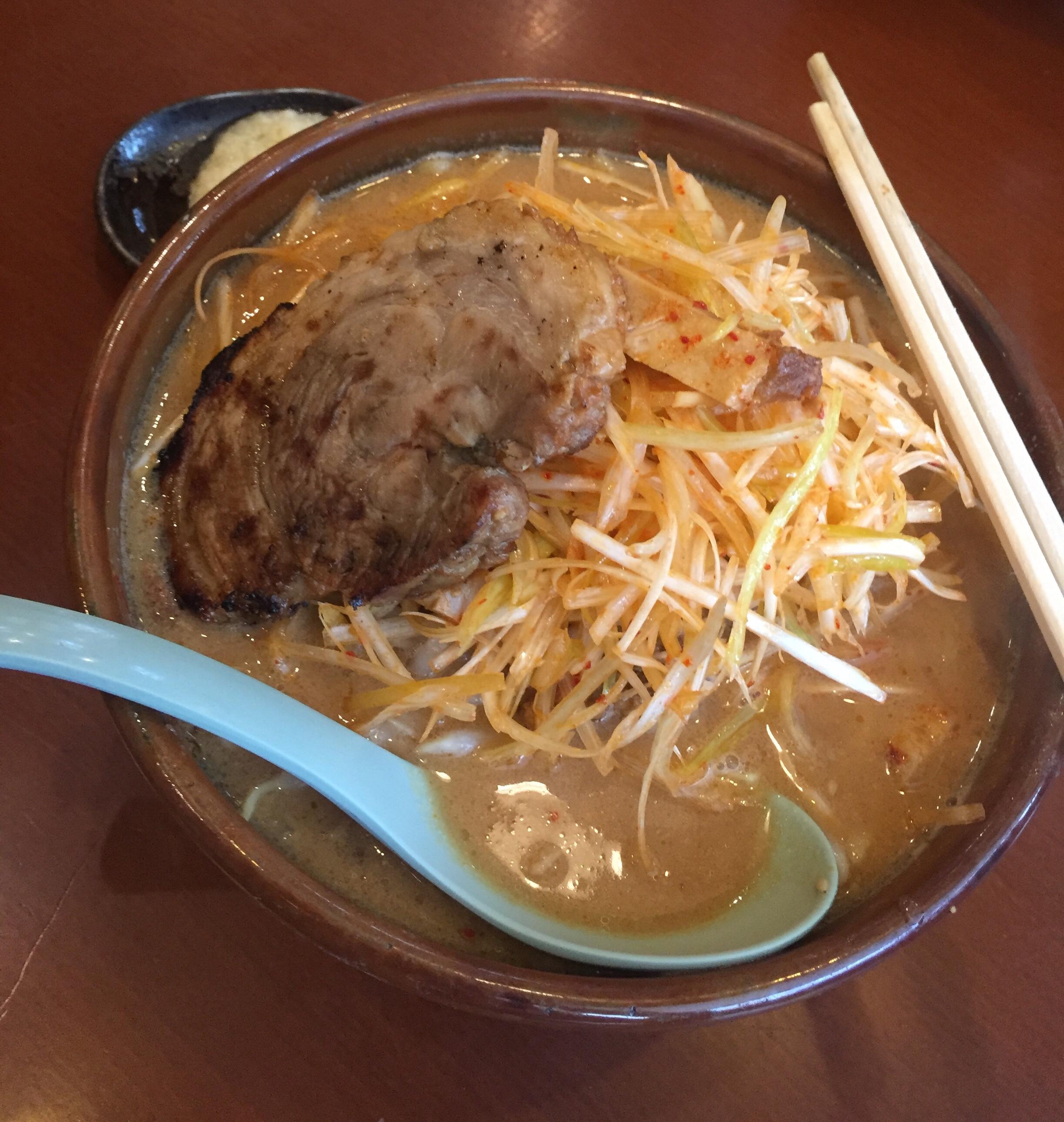 ネギ味噌炙りチャーシュー麺!