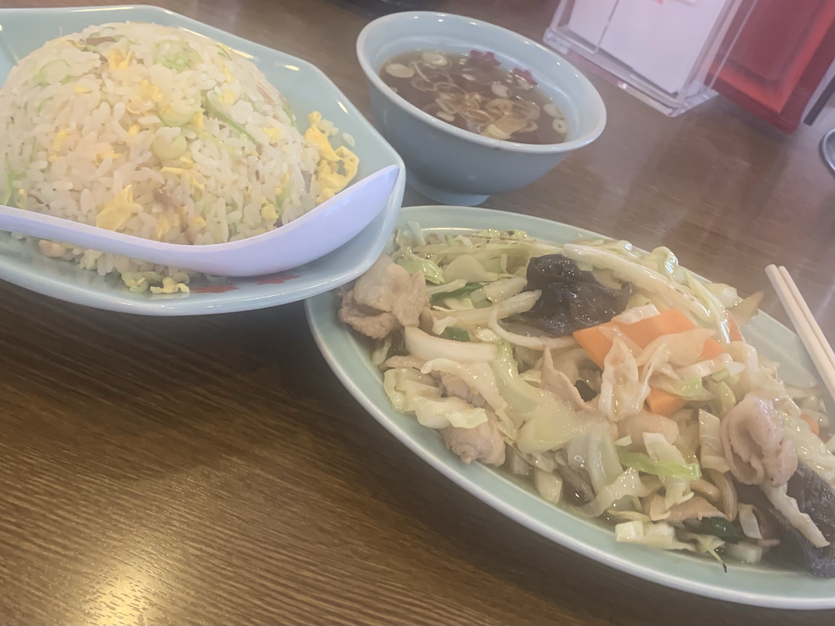 炒飯野菜炒め…